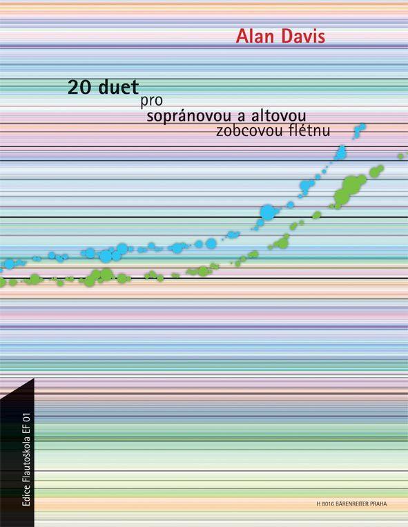 20 duet pro sopránovou a altovou zobcovou flétnu - A. Davis Bärenreiter Praha