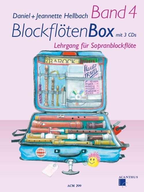 BlockflötenBox Band 4 s 4 CD - D. +J. Hellbach Acanthus-music