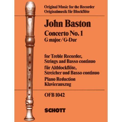 Concerto No. 1 G Major - J. Baston - part+klavír SCHOTT