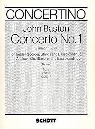 Concerto No. 1 G Major - J. Baston SCHOTT