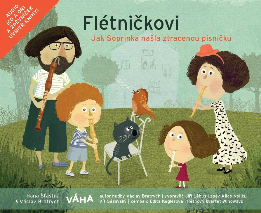 Flétničkovi - Jak Soprinka našla ztracenou písničku - kniha+CD VÁHA