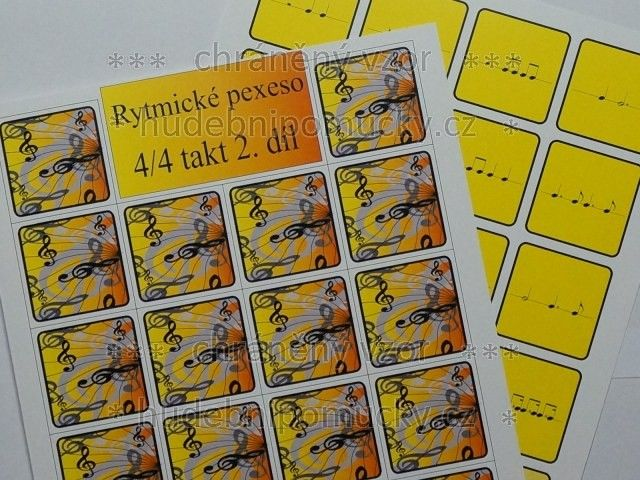 Rytmické pexeso - 4/4 takt 2. díl