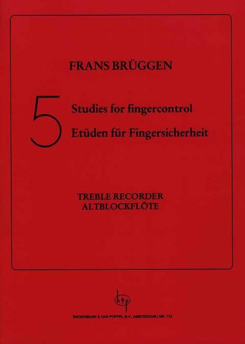 5 Studies for fingercontrol - F. Brüggen Broekmans/Van Poppel