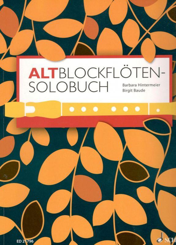 A Solo Book for Treble Recorder - B. Hintermeier SCHOTT