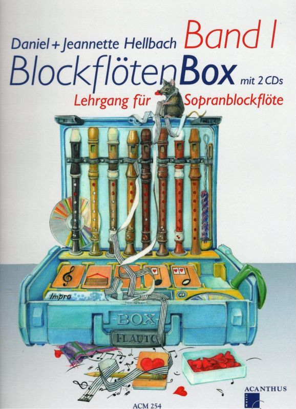 BlockflötenBox 1 s 2 CD - D. + J. Hellbach Acanthus-music
