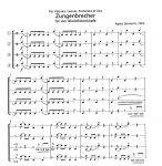Zungenbrecher für vier Blockflötenköpfe- A. Dorwarth Edition Tre Fontane