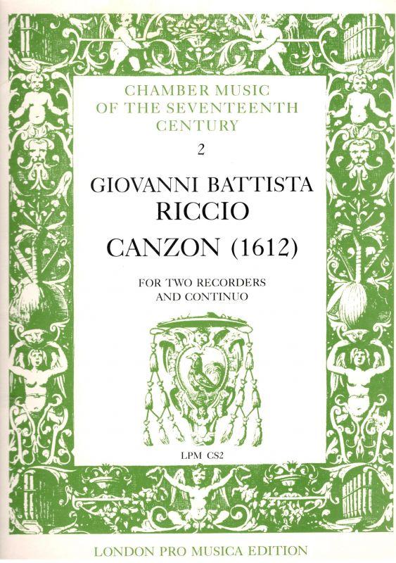 Canzon - G. B. Riccio London Pro Musica Edition