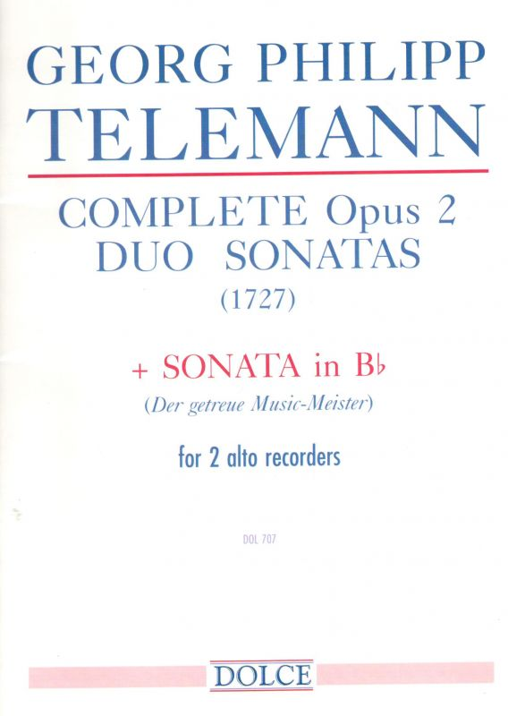 Complete Duo Sonatas op. 2 - G. P .Telemann Dolce