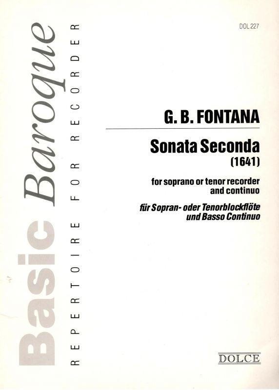 G. B. Fontana - Sonata Seconda Dolce